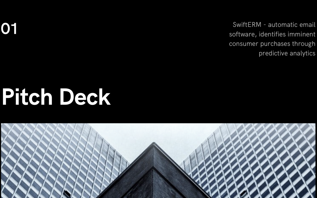 SwiftERM offer comprehensive Pitch Deck
