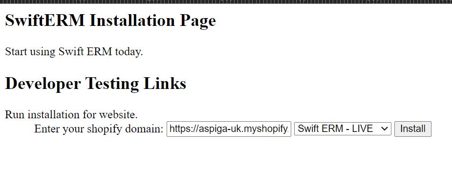 SwiftERM Installation Page