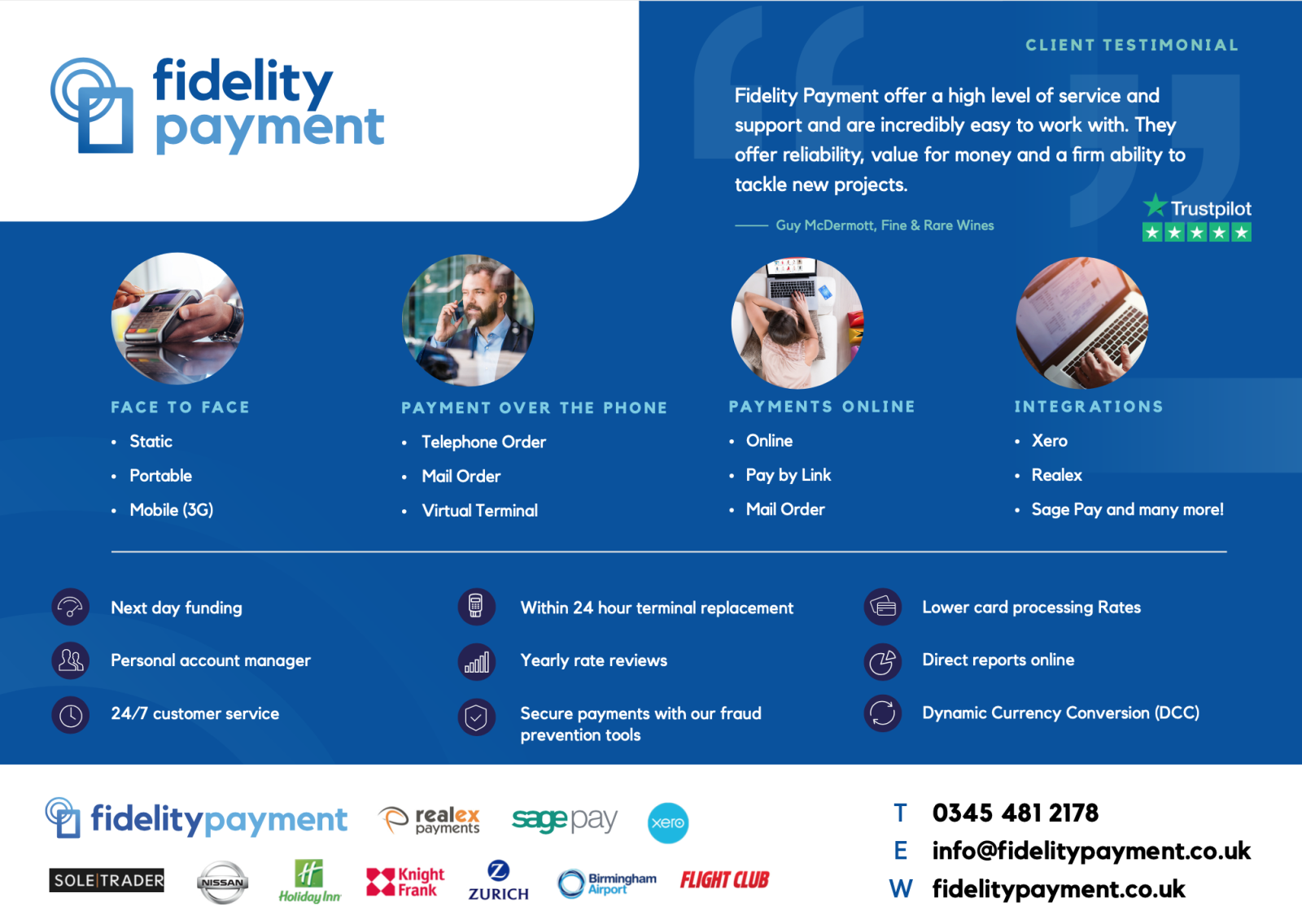 Fidelity Payments Brochure Cover