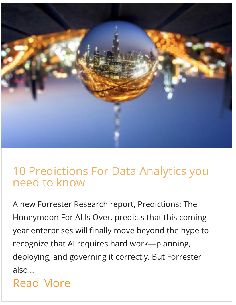 10 predictions for data analytics