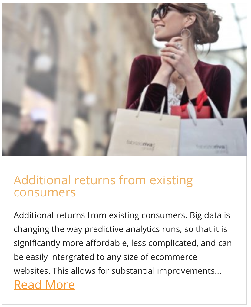 Additional returns from existing consumers