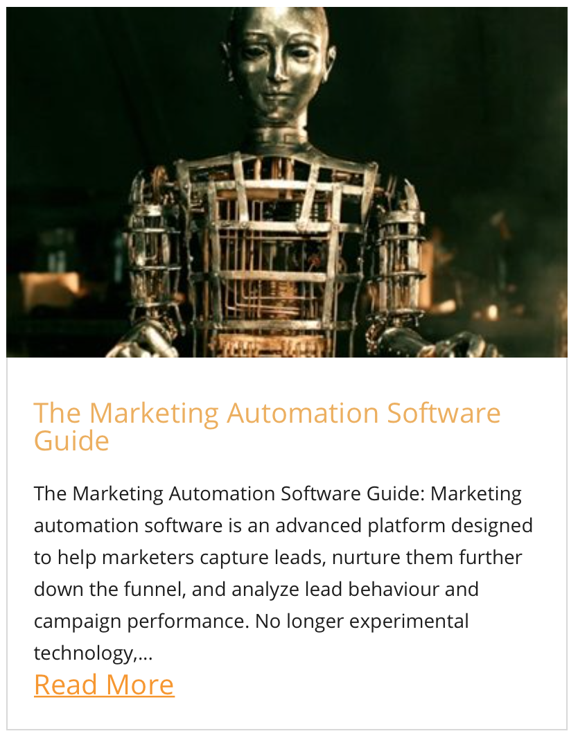 The Marketing Automation Software Guide