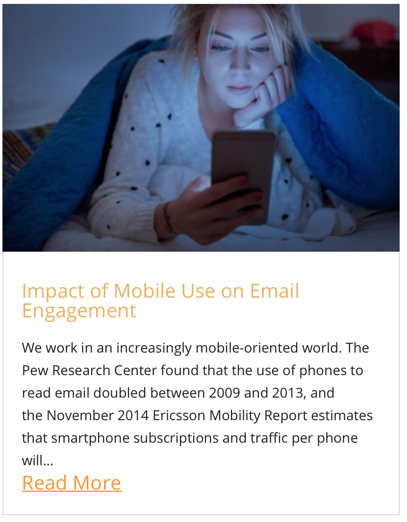 Impact of Mobile Use on Email Engagement