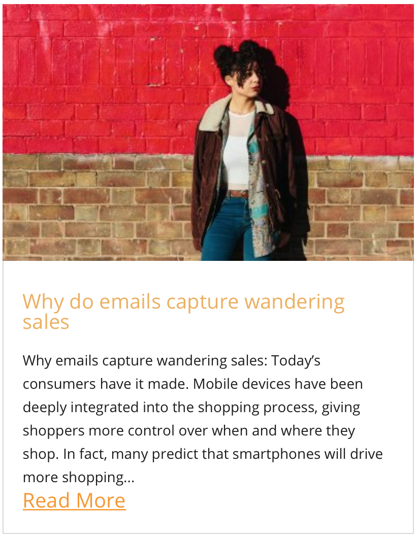 Why do emails capture wandering sales