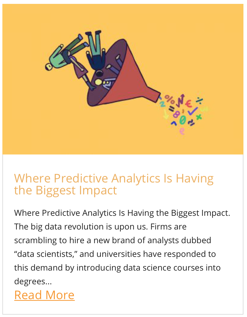 Where predictive analytics is having the greatest impact