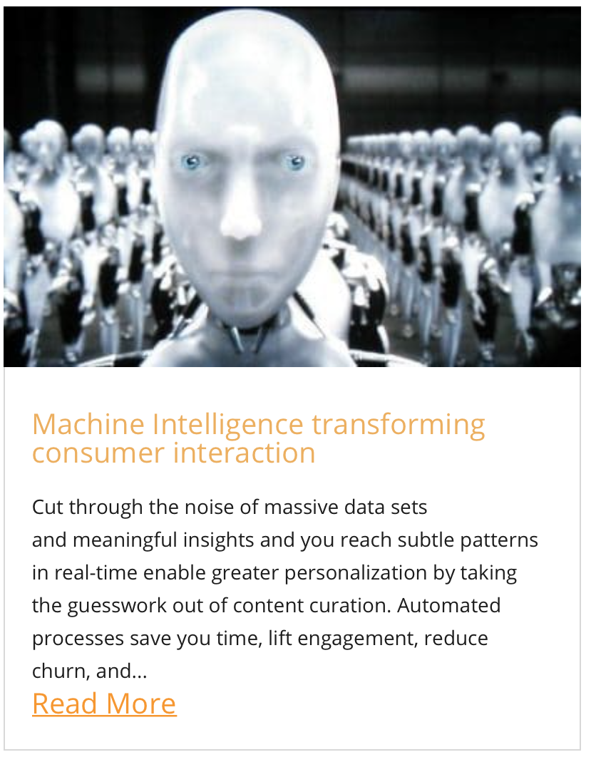 Machine Intelligence transforming consumer interaction