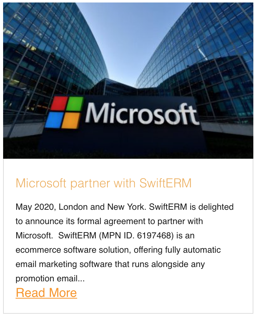 Microsoft partner with SwiftERM
