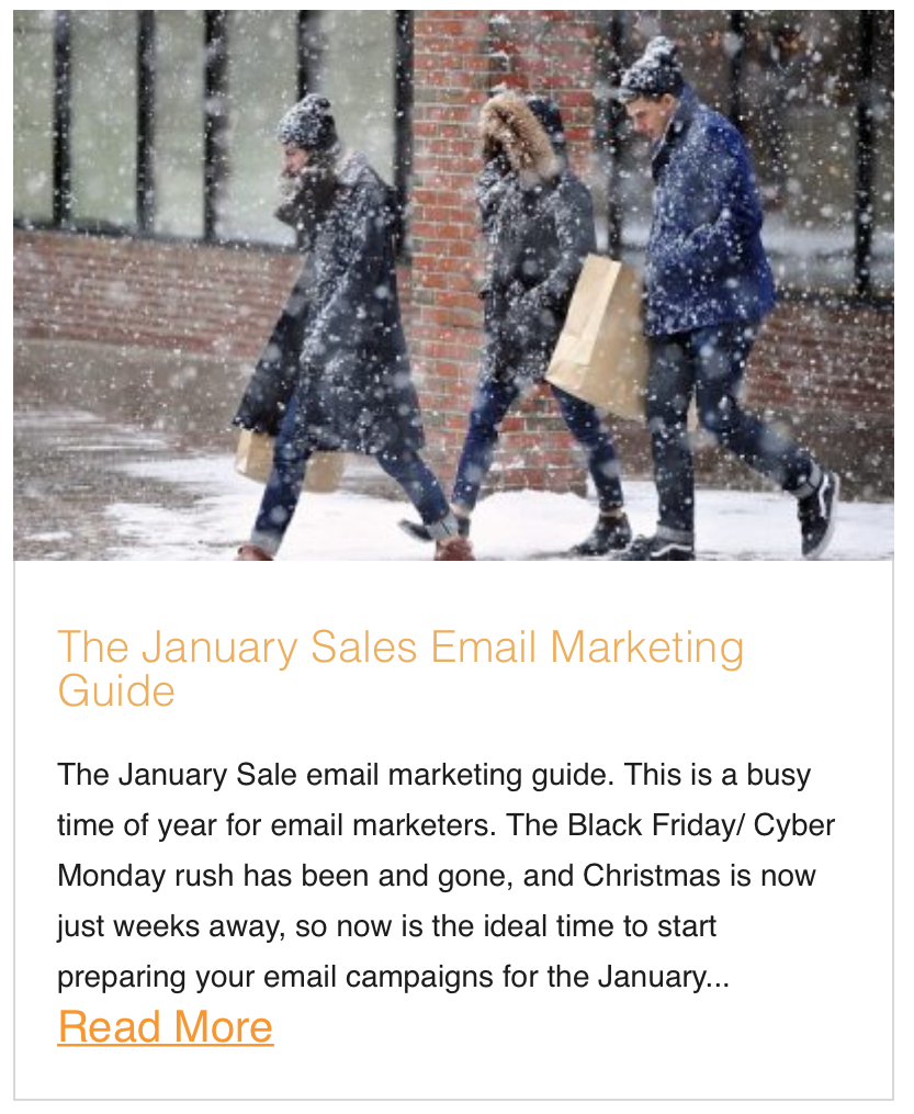 The January Sales Email Marketing Guide