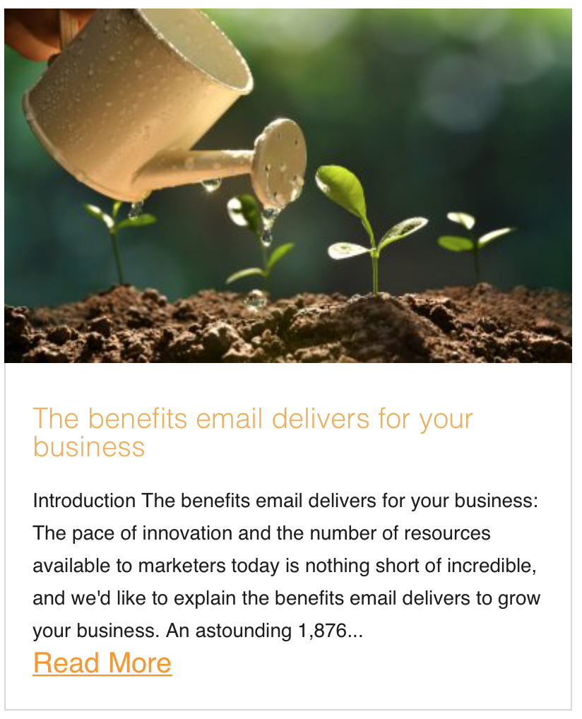 The benefits email delivers for your business
