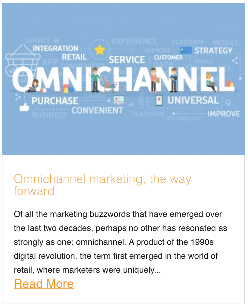 Omnichannel marketing, the way forward