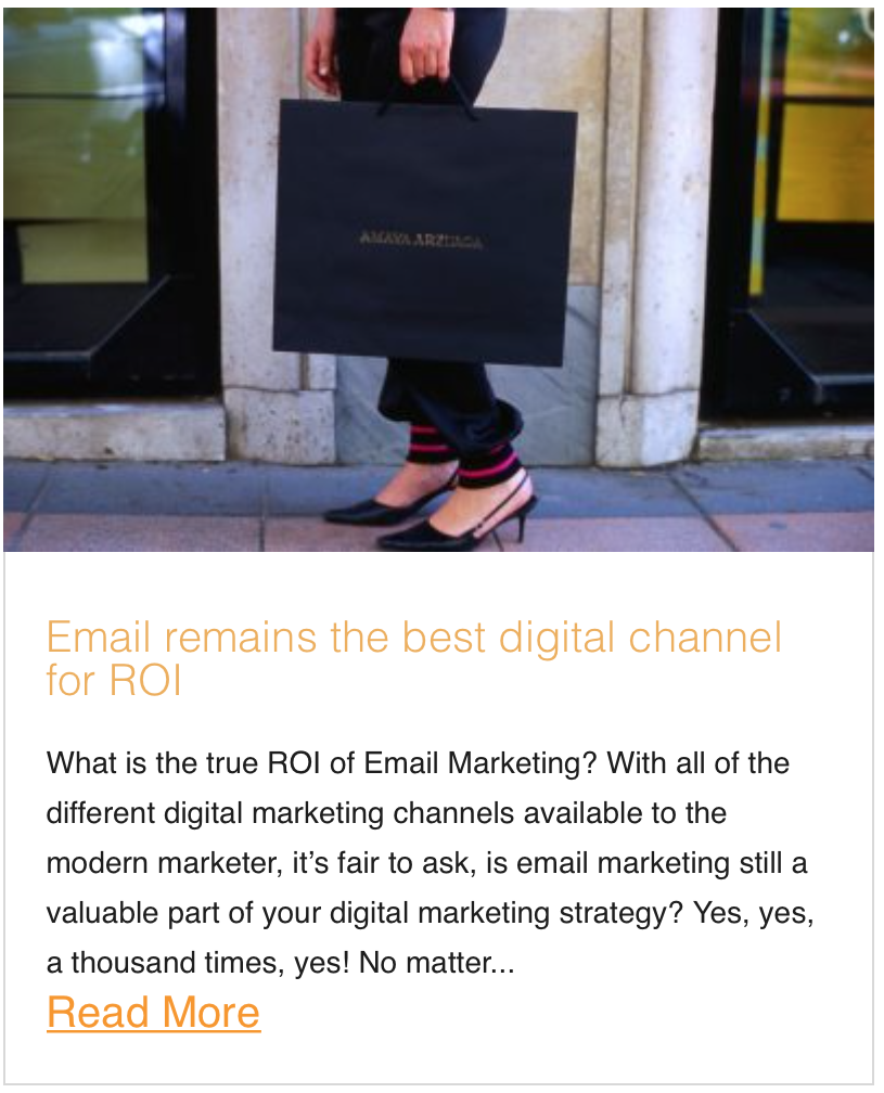 Email remains the best digital channel for ROI