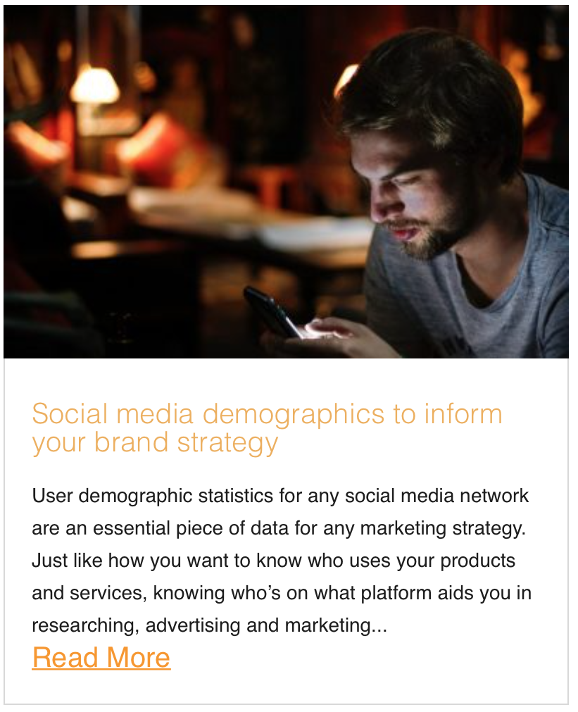 Social media demographics to inform your brand strategy