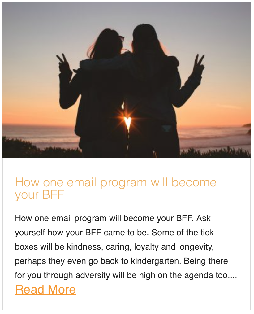 How one email program will become your BFF