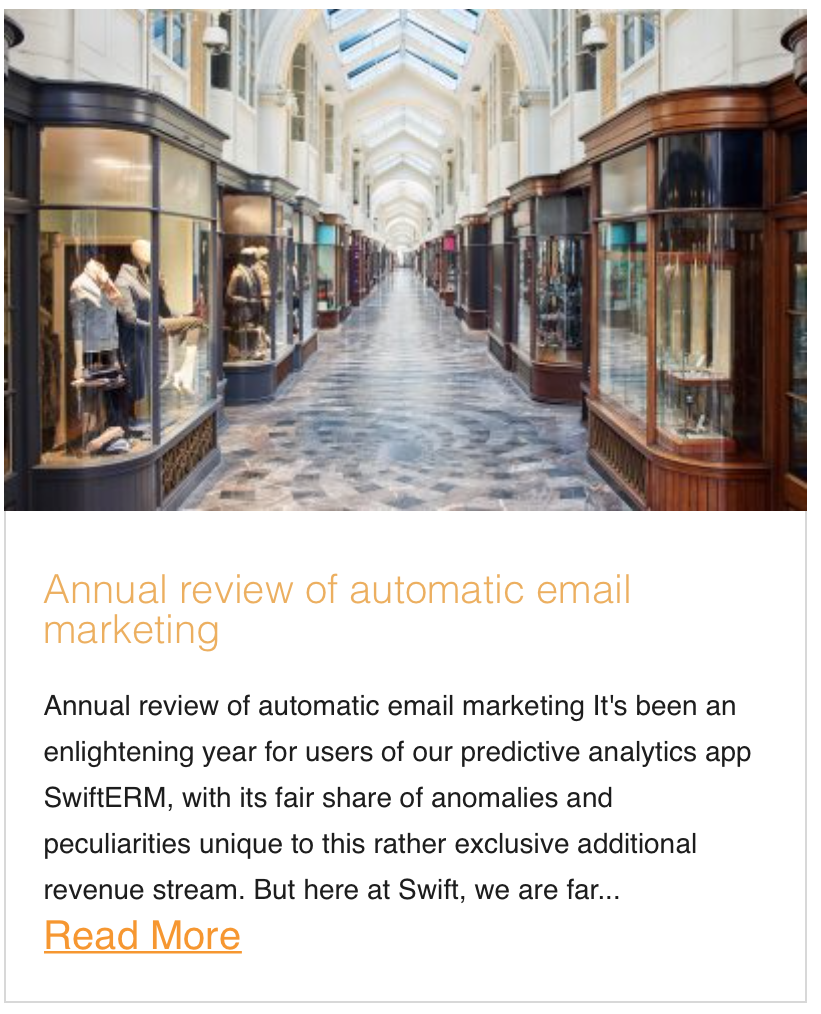 Annual review of automatic email marketing
