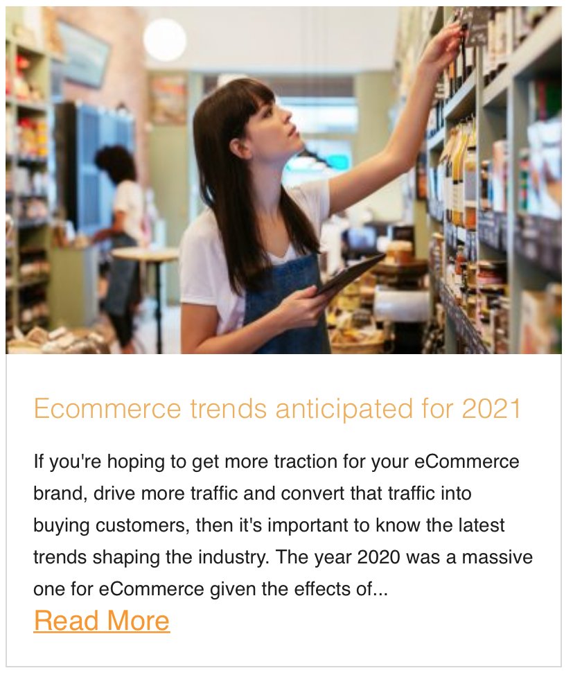 Ecommerce trends anticipated for 2021