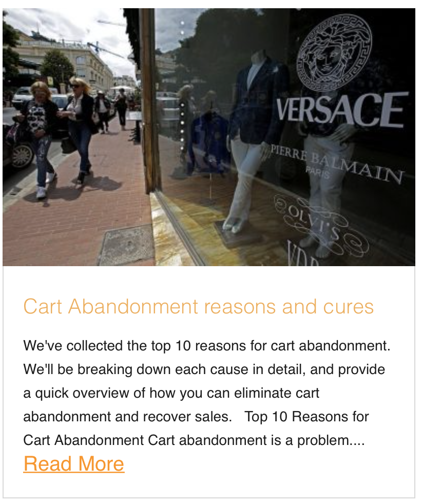 Cart Abandonment reasons and cures