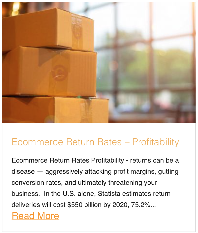 Ecommerce Return Rates – Profitability
