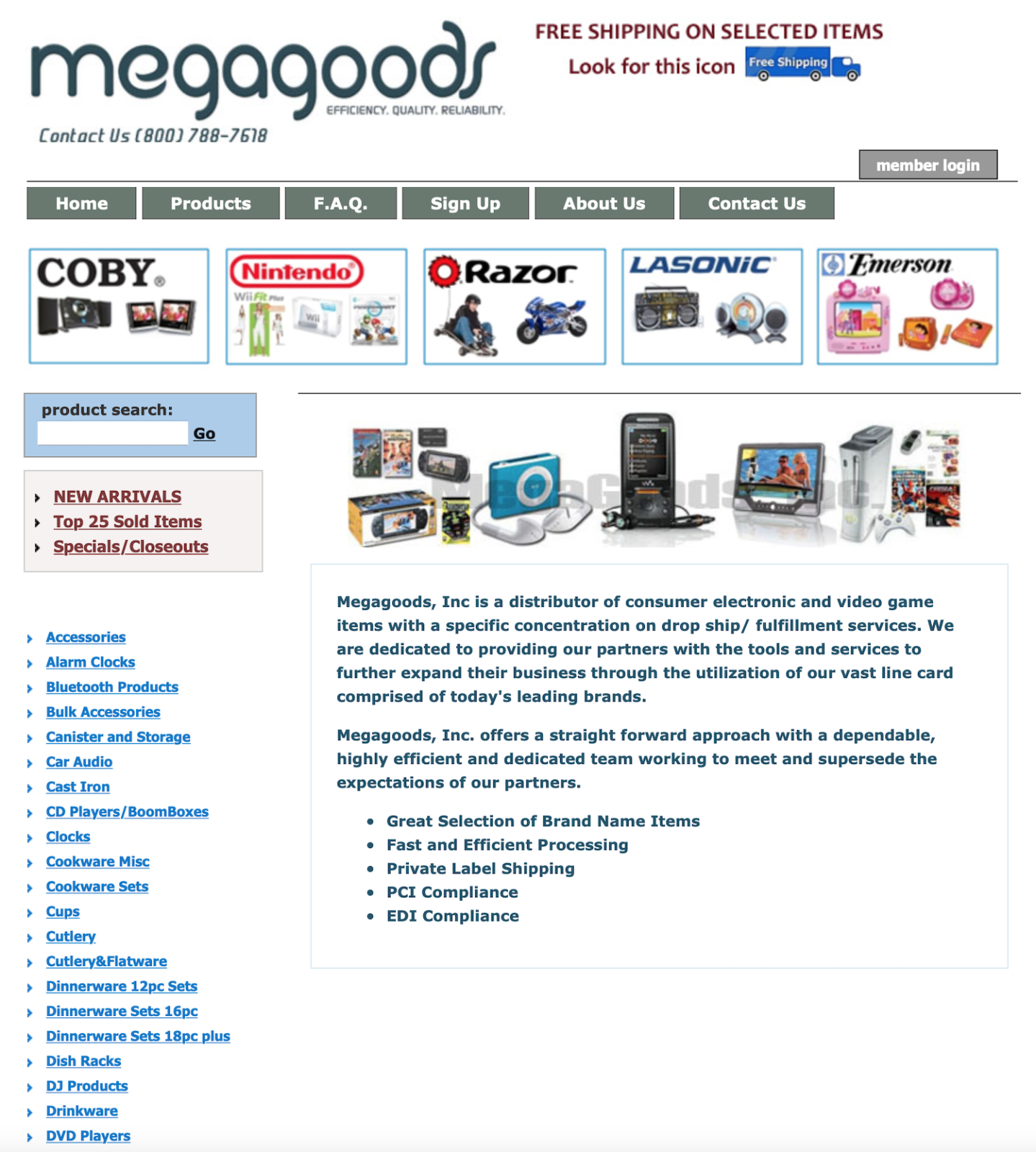 14. Megagoods — US-based dropshipping supplier