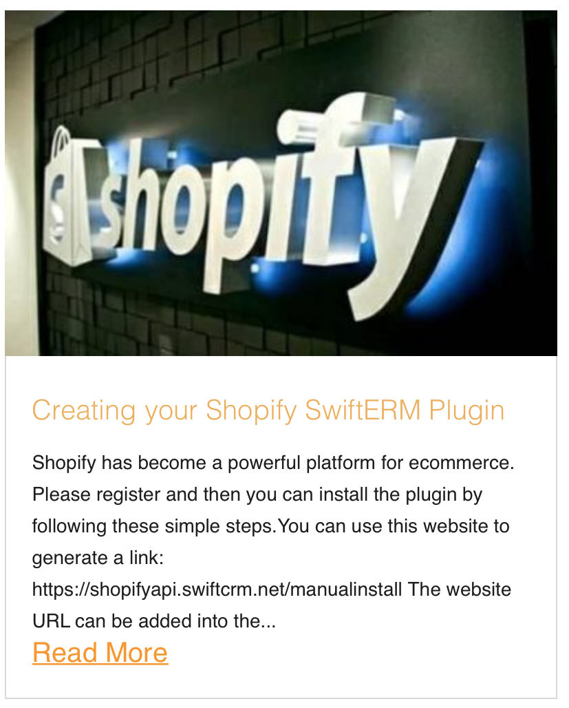 Creating your Shopify SwiftERM Plugin