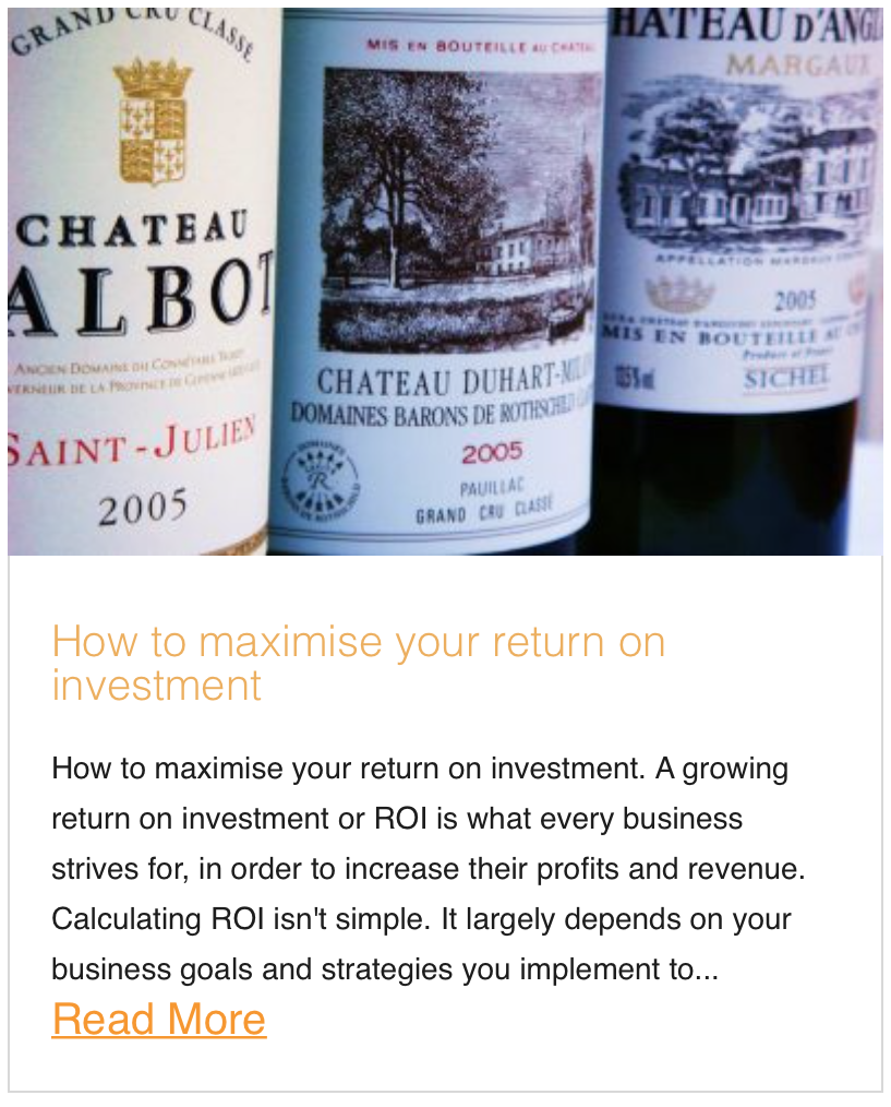 How to maximise your return on investment