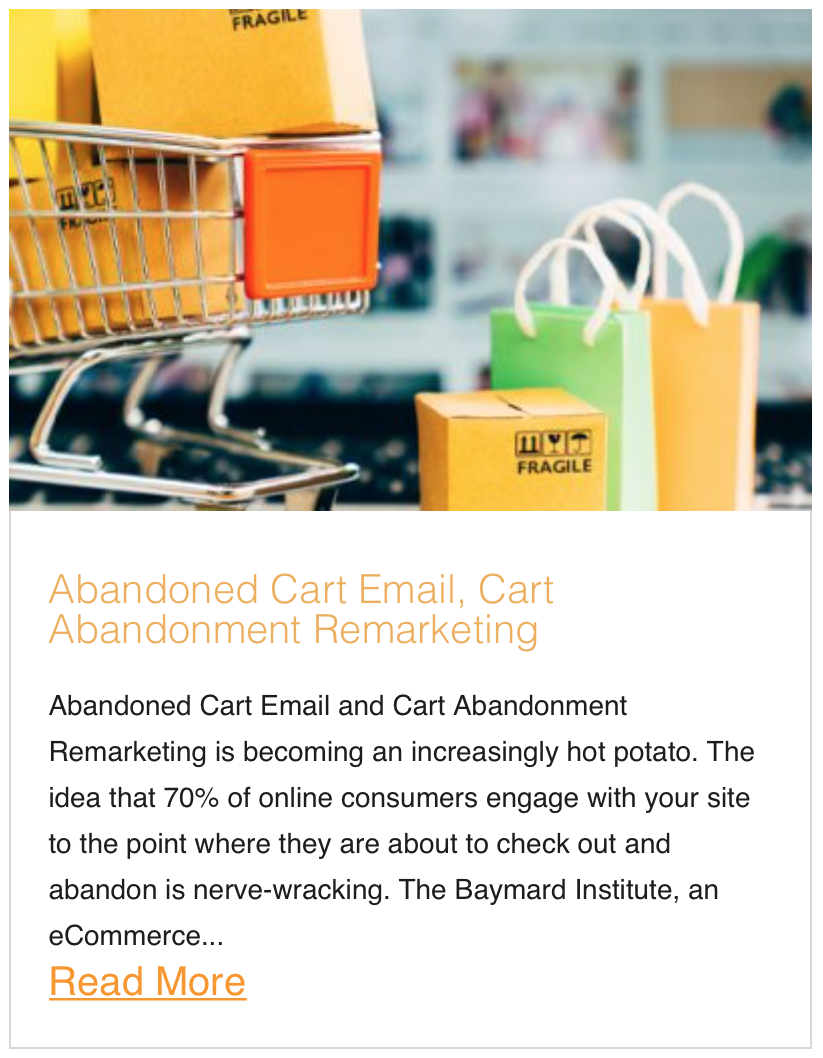 Abandoned Cart Email, Cart Abandonment Remarketing