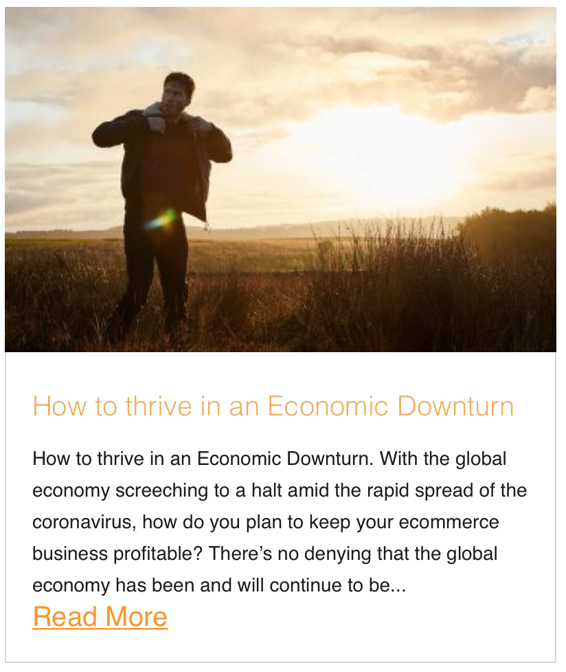 How to thrive in an Economic Downturn