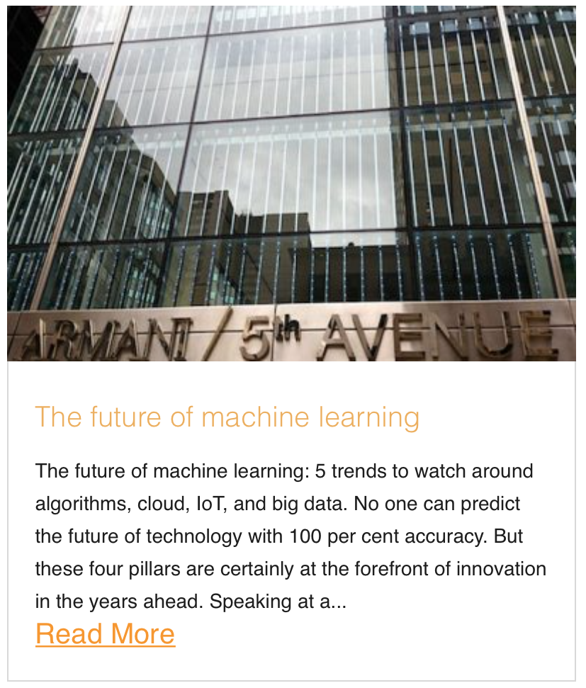 The future of machine learning
