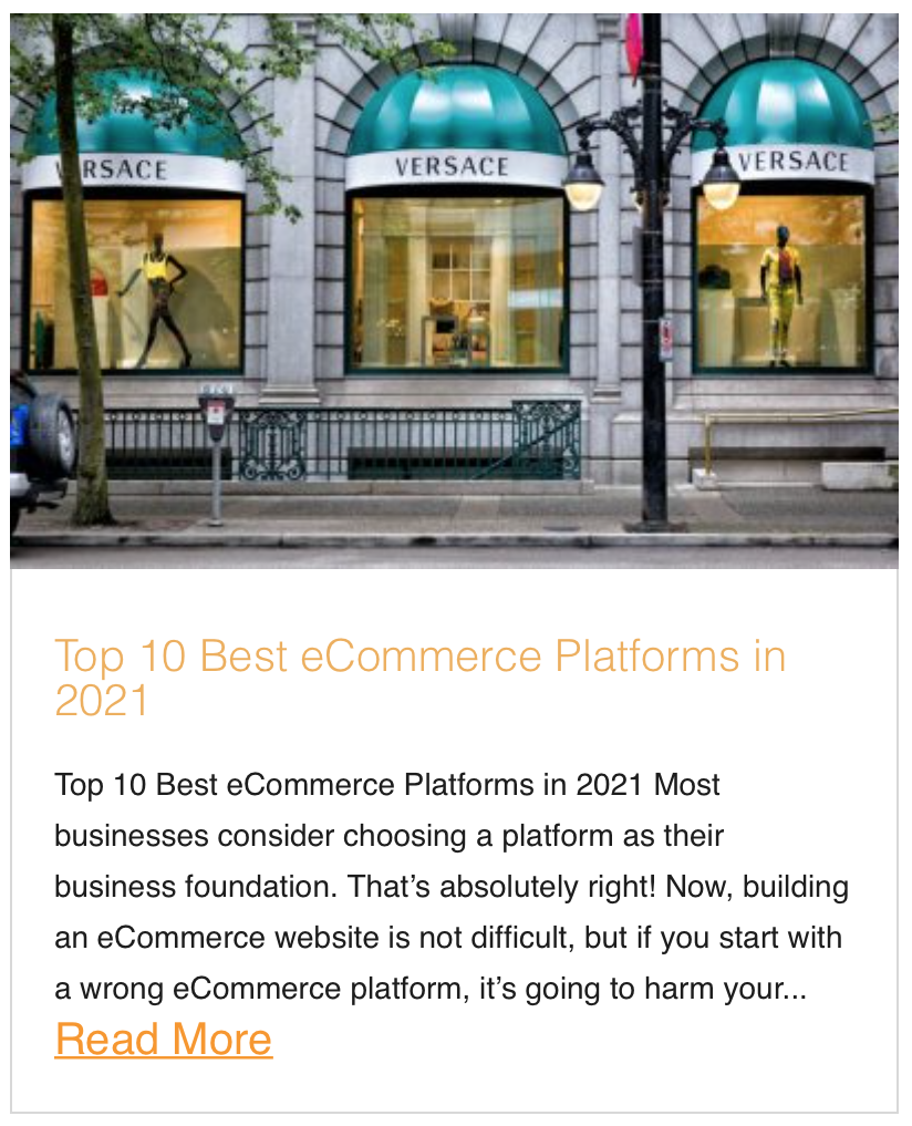 Top 10 Best eCommerce Platforms in 2021