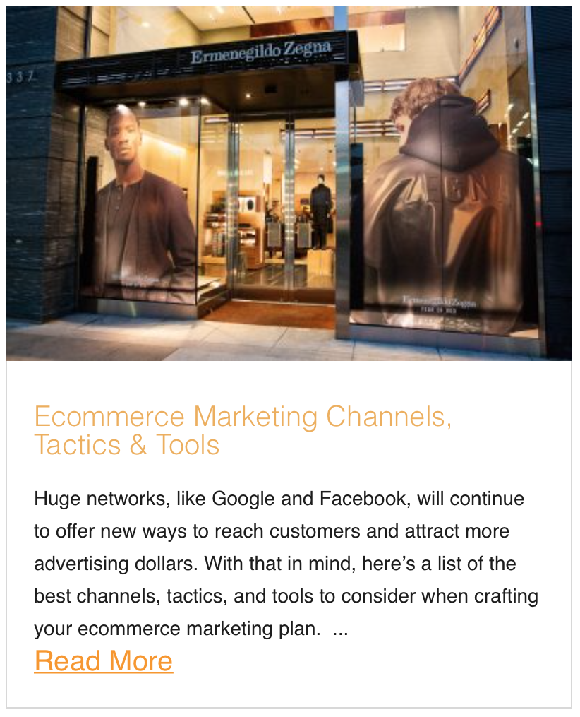 Ecommerce Marketing Channels, Tactics & Tools