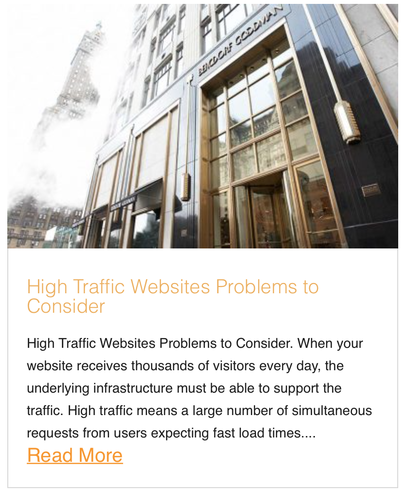 High Traffic Websites Problems to Consider