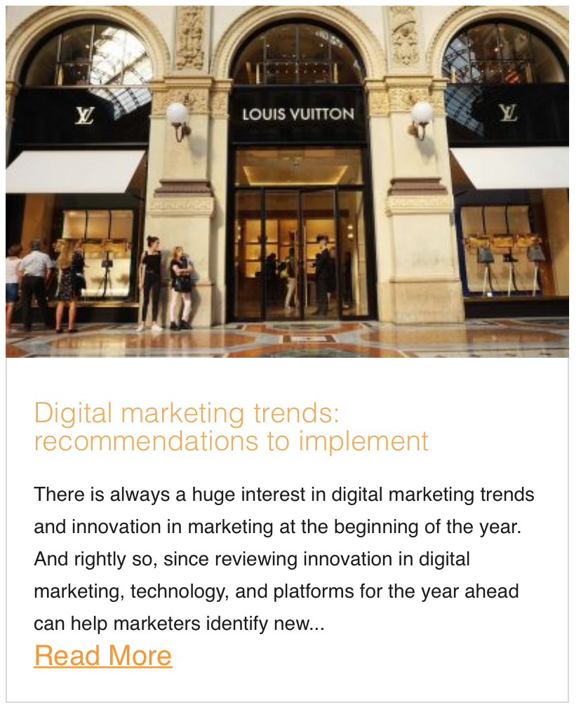 Digital marketing trends: recommendations to implement