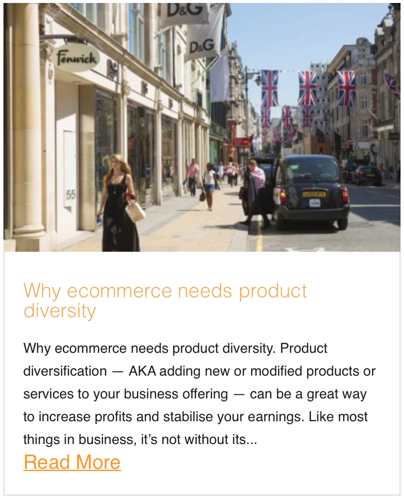 Why ecommerce needs product diversity