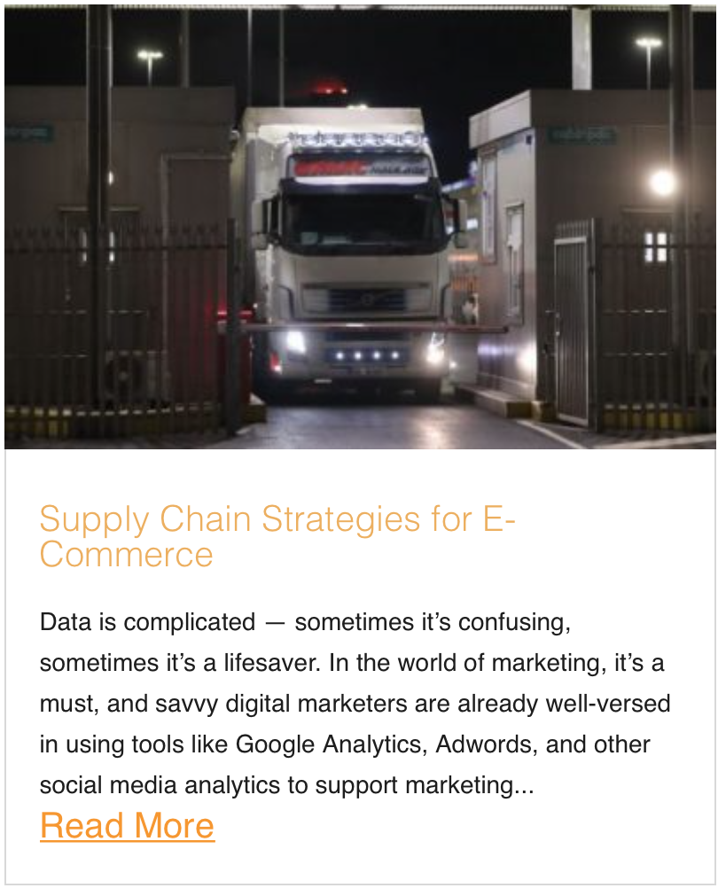 Supply Chain Strategies for E-Commerce