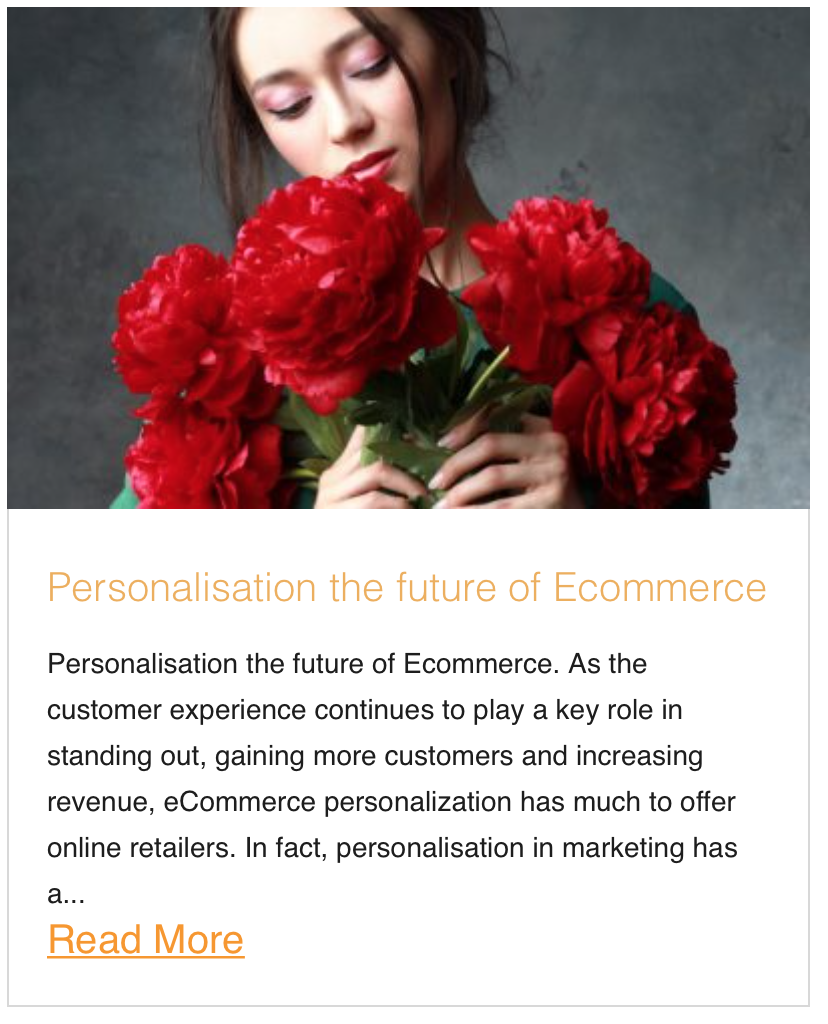 Personalisation the future of Ecommerce