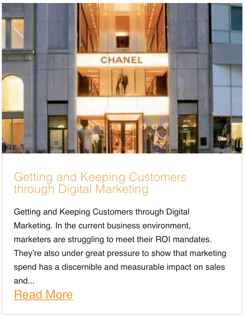 Getting and Keeping Customers through Digital Marketing