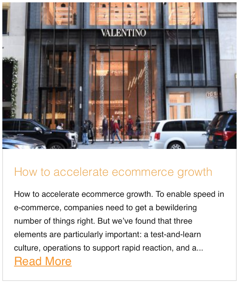 How to accelerate ecommerce growth
