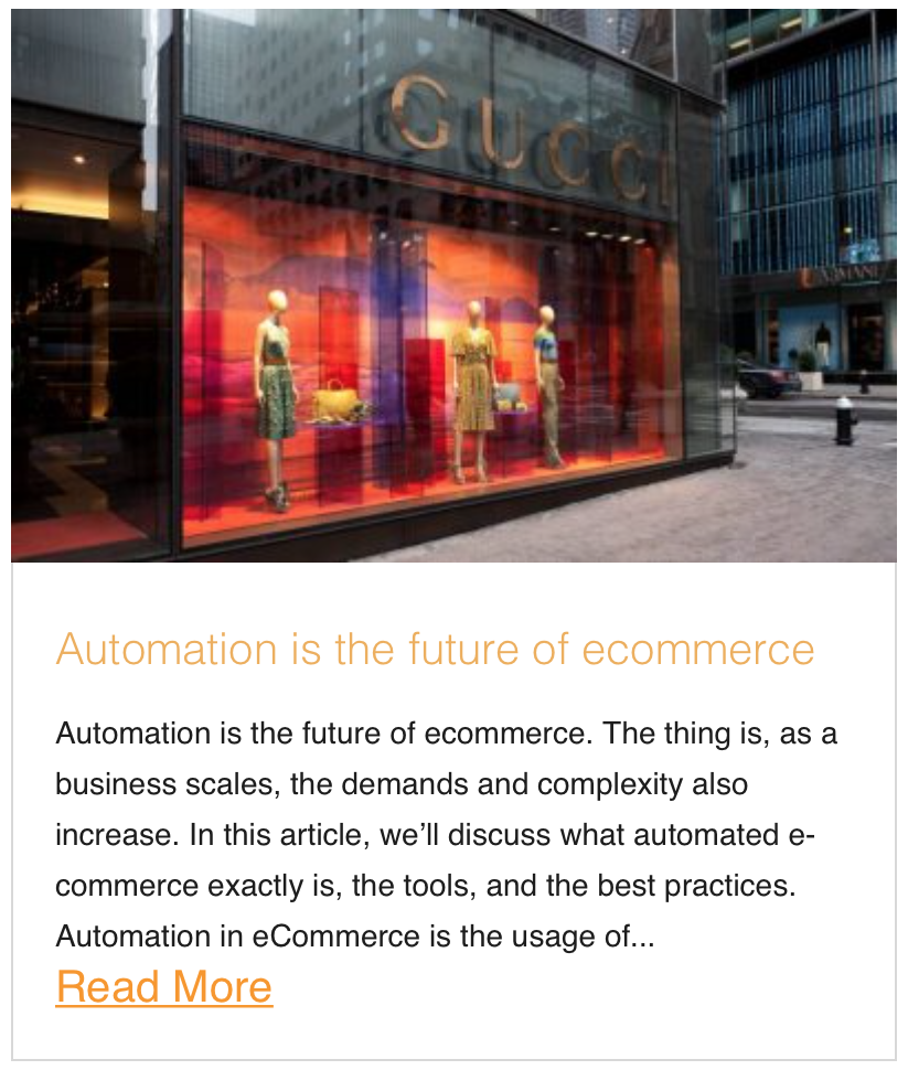Automation is the future of ecommerce