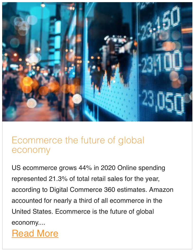 Ecommerce the future of global economy