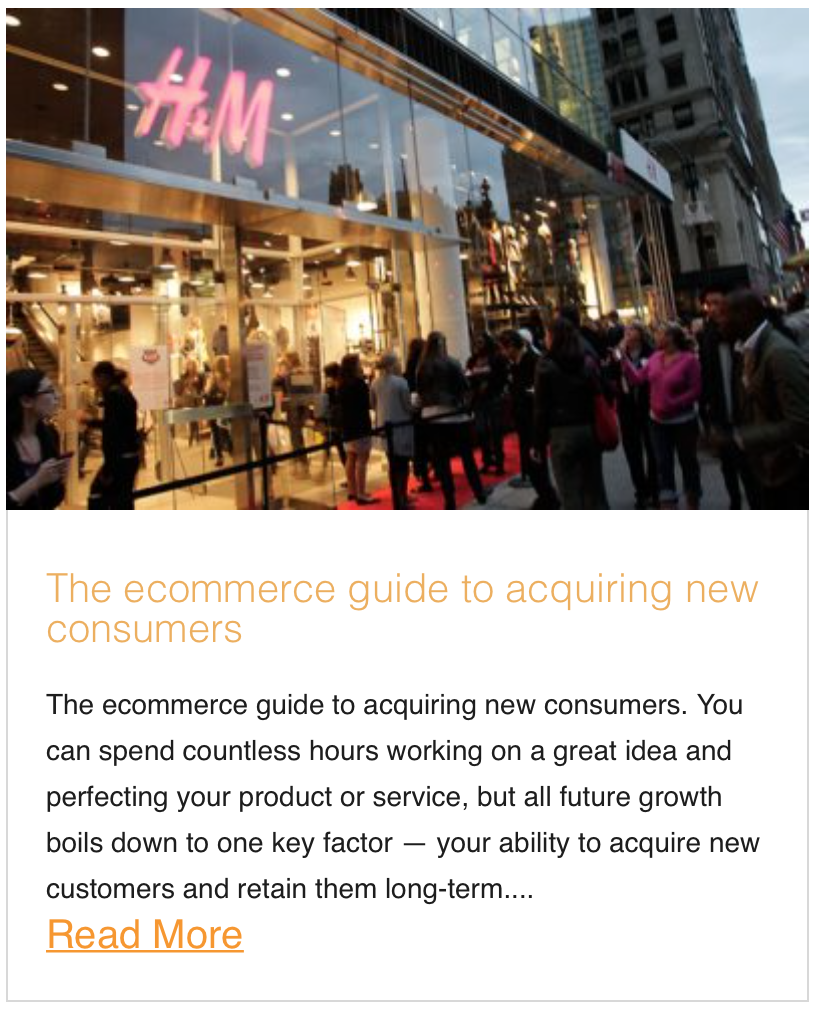 The ecommerce guide to acquiring new consumers