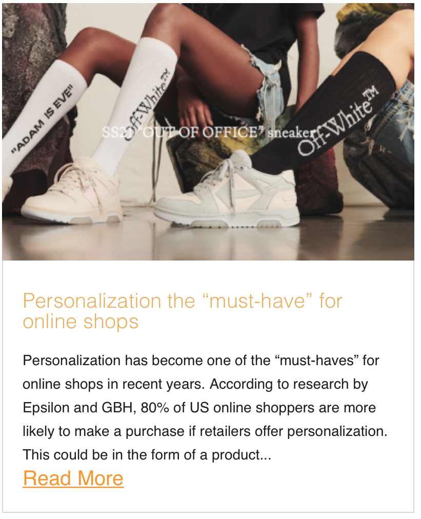 "Personalization the ""must-have"" for online shops"