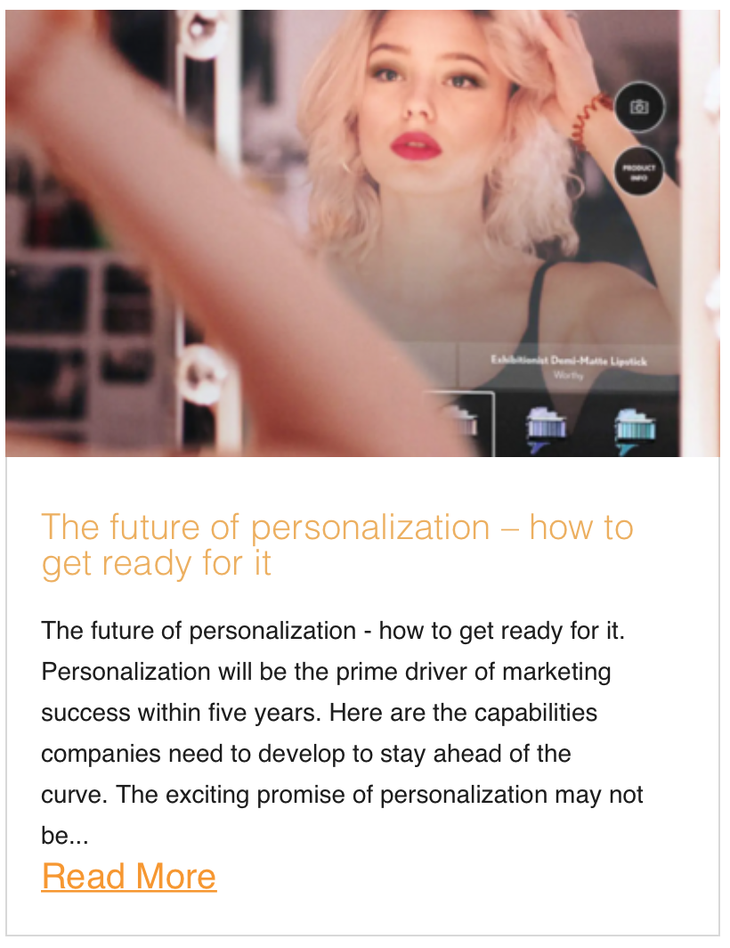 The future of personalization – how to get ready for it