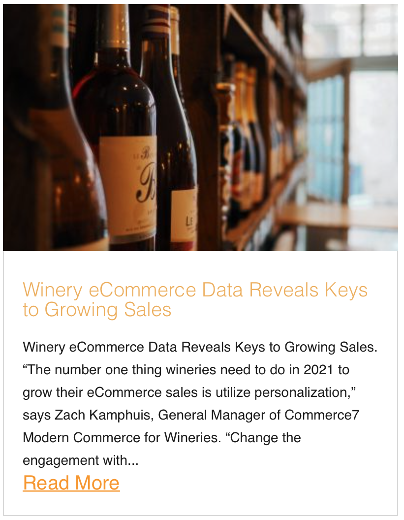 Winery eCommerce Data Reveals Keys to Growing Sales