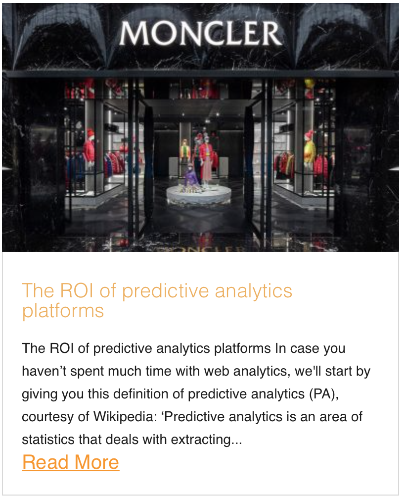 The ROI of predictive analytics platforms