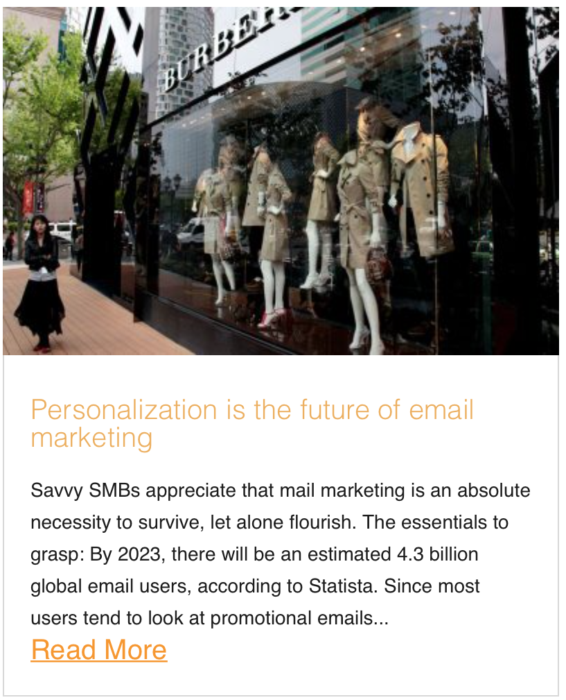 Personalization is the future of email marketing