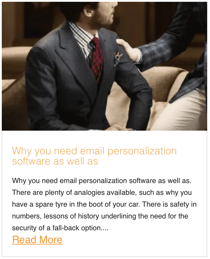 Why you need email personalization software as well as