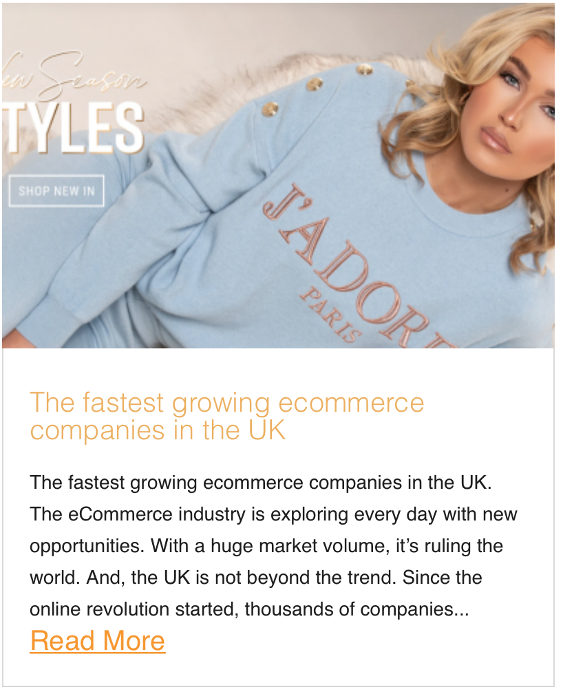 The fastest growing ecommerce companies in the UK