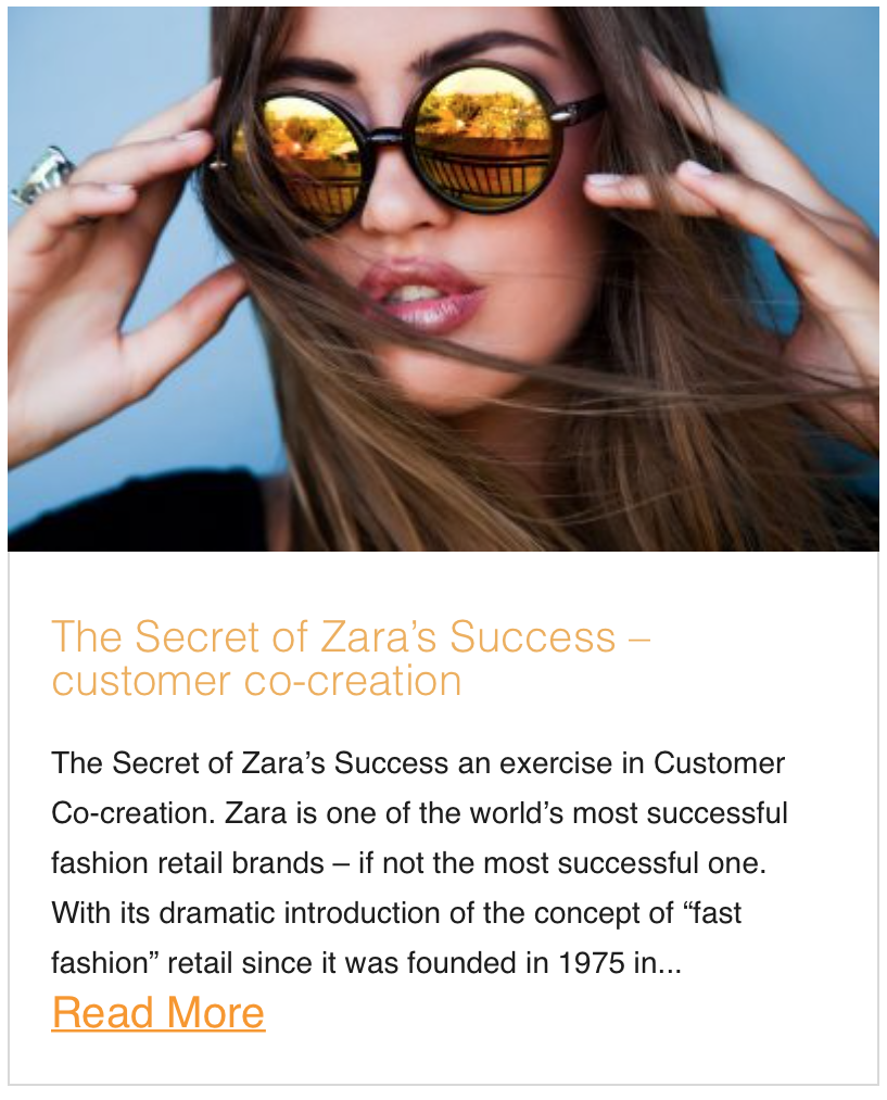 The Secret of Zara's Success – customer co-creation