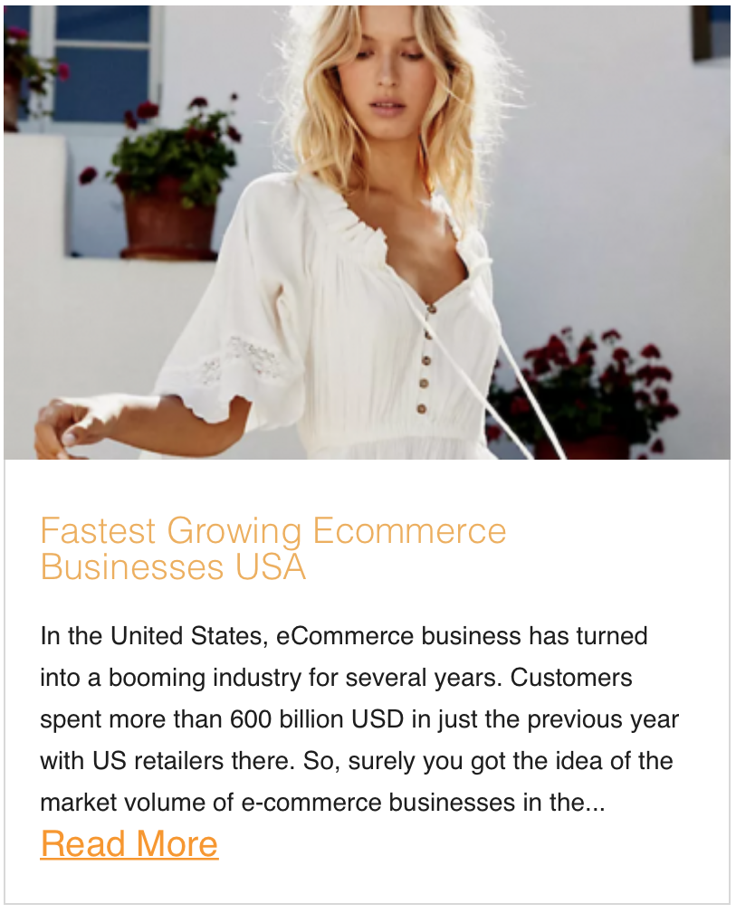 Fastest Growing Ecommerce Businesses USA