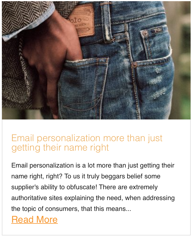 Email personalization more than just getting their name right