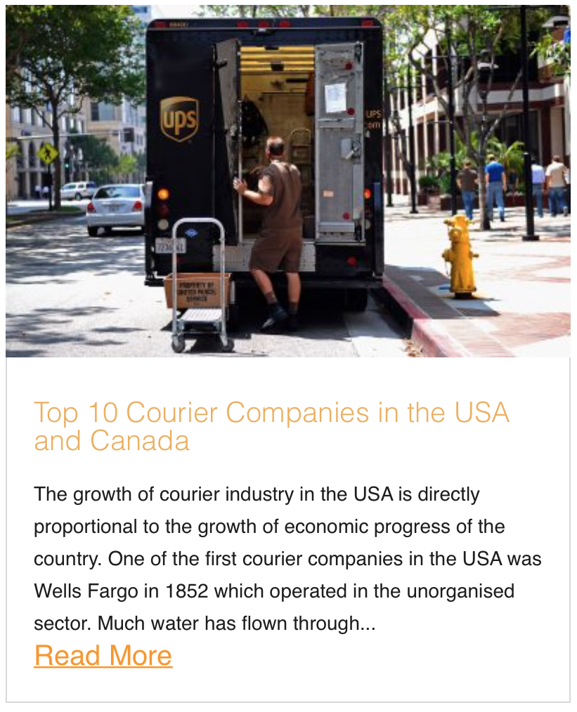 Top 10 Courier Companies in the USA and Canada